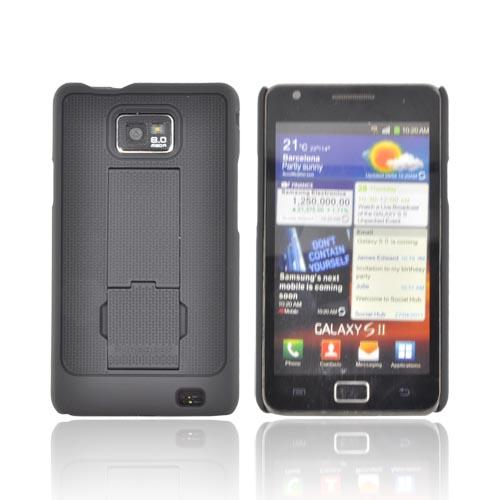 Original PureGear AT&T Samsung Galaxy S2 Rubberized Hard Kickstand Case, 02-001-01058 - Black