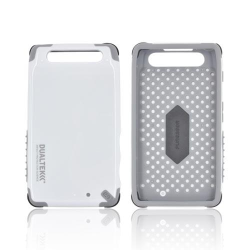 Original PureGear Motorola Droid RAZR DualTek Extreme Shock Hybrid Hard Case w/ Screen Protector, 02-001-01178 - White/ Gray