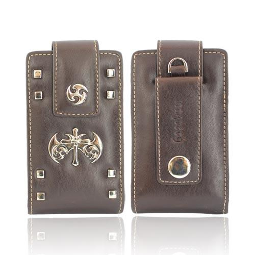 Original Naztech Gothic Pouch Case w/ Metal Strap and Clip, 10347 - Brown (PUTL)