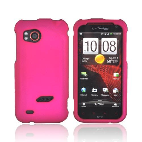 Premium HTC Rezound Rubberized Hard Case - Rose Pink