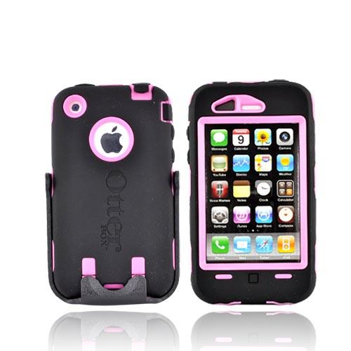 Original Otterbox Defender Apple iPhone 3G 3GS Hard Case, 1942-22-5 - Black/Pink