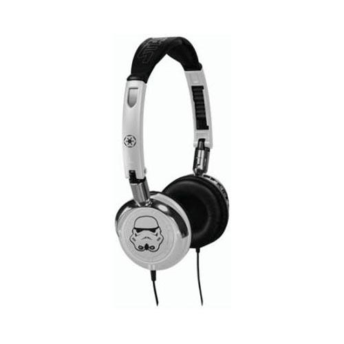 Original FunkoTronics Star Wars Stormtrooper Foldable Headphones, 2067F (3.5mm) - White/Black