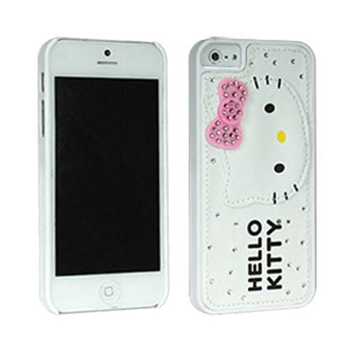 Hello Kitty Leather & Felt on White Hard Case for Apple iPhone 5/5S