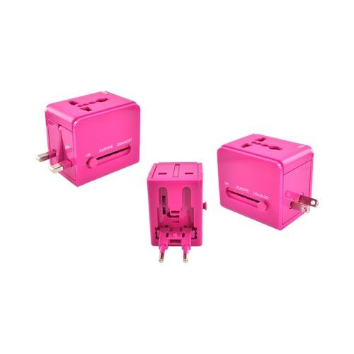 Original DCI Universal 3 Type Travel Adapter, 26546-MG - Magenta (UK/Europe/Australia)