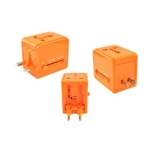 Original DCI Universal 3 Type Travel Adapter, 26546-OR - Orange (UK/Europe/Australia)