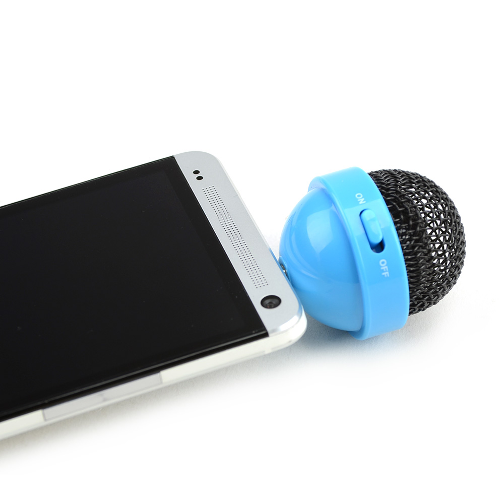 Original DCI FunkyFonic Universal Microphone Speaker (3.5mm) w/ Charging Cable, 30611 - Blue/ Black