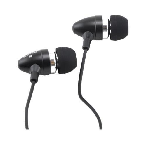 OEM Kinyo Cone Shaped Universal High Fidelity Earbuds w/ Extra Bass (3.5mm), PE-166BLACK - Black