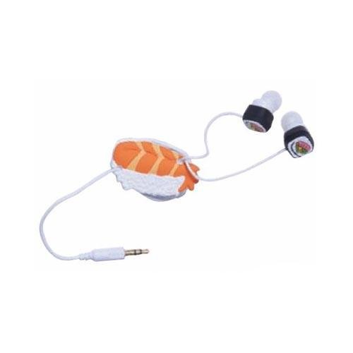 Original DCI Universal Ear Bud Headset (3.5mm) w/ Cord Wrapper, 32387 - Yummy Sushi