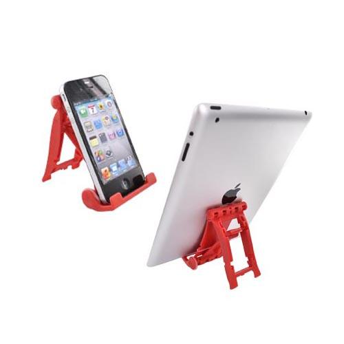 Original 3Feet Universal iPad/iPhone/Kindle Holder Stand, 3FRD - Fire Engine Red