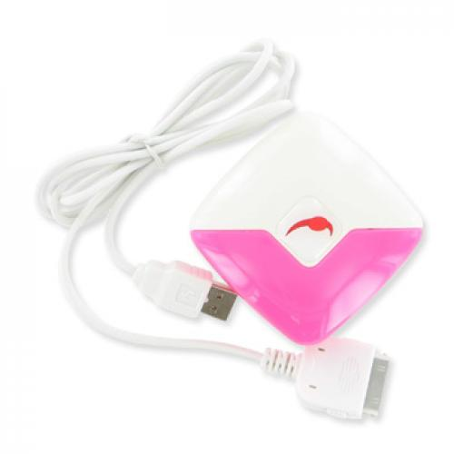 Apple iPhone 3G, Apple iPhone 3Gs 3-in-1 Wall Charger - Pink, White (Travel, USB, Car)