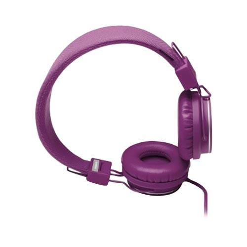 Original Urbanears Plattan Universal Over Ear Collapsible Headphones w/ Mic/ Remote/ Fabric Cord, 4090514 - Purple Grape