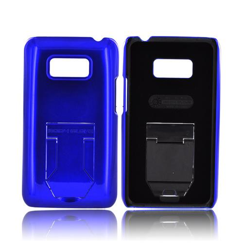 Body Glove LG Optimus Elite Slim Hard Case w/ Built-In Pull Out Kickstand, CRC92774 - Blue