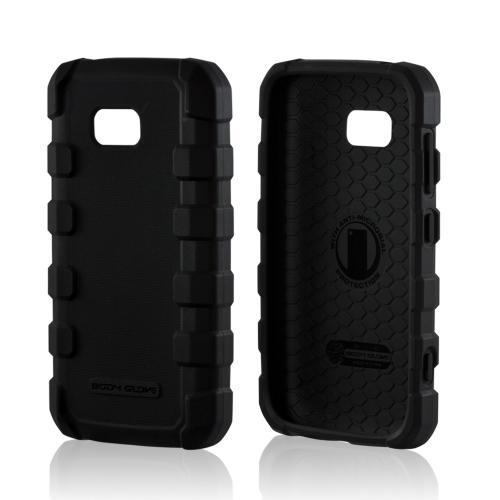 Body Glove Black Drop Suit Series Crystal Silicone Case w/ Textured Lines for Nokia Lumia 822