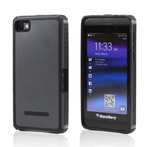 Body Glove Black DropSuit Crystal Silicone Case w/ Textured Lines for Blackberry Z10