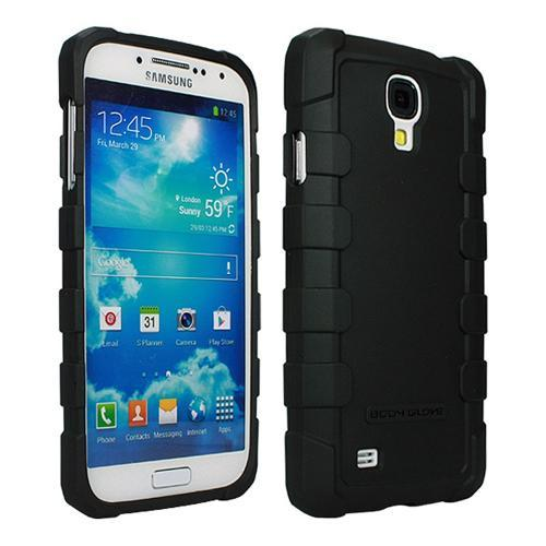 Body Glove Black DropSuit Crystal Silicone Case w/ Textured Lines for Samsung Galaxy S4 - 9346201