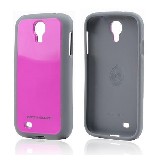 Body Glove Hot Pink/ Gray Merge Hybrid Hard Back w/ TPU Border for Samsung Galaxy S4 - 9344403