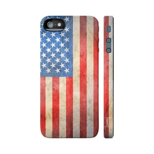 OEM Luardi Apple iPhone 5 Hard Case - American USA Flag