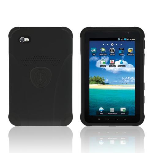 Trident Aegis Series Black Hard Cover on Silicone Case w/ Screen Protector for Samsung Galaxy Tab P1000 - AG-SGXT-BK