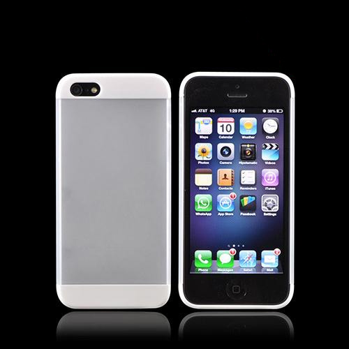 Premium Apple iPhone 5/5S Slide-On Hard Case - White/ Frost White