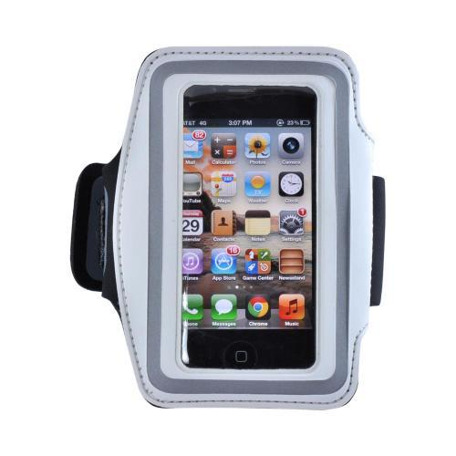 White/ Silver OEM Naztech Universal Armband for Smart Phones and MP3 Players