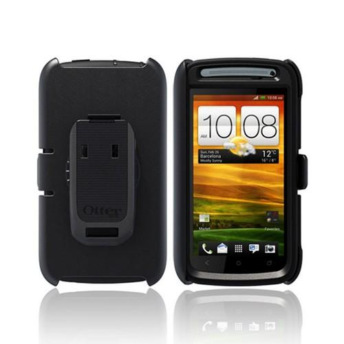 Otterbox HTC One S Defender Series Silicone Over Hard Case w/ Holster & Screen Protector - Black