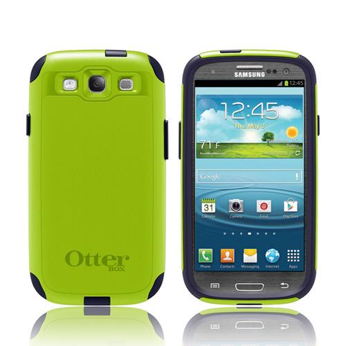 OEM Otterbox Samsung Galaxy S3 Hybrid Commuter Series Case w/ Screen Protector - Atomic Navy/ Lime Green