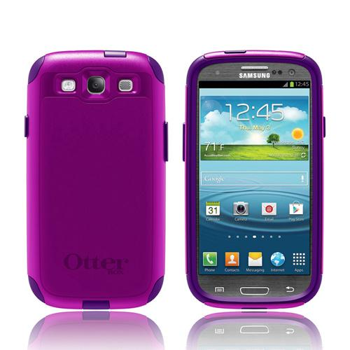 OEM Otterbox Samsung Galaxy S3 Hybrid Commuter Series Case w/ Screen Protector - Boom Dark/ Light Purple