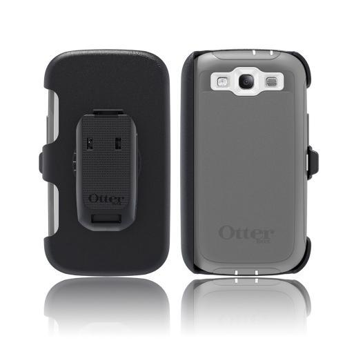 OEM Otterbox Samsung Galaxy S3 Defender Series Silicone Over Hard Case w/ Holster - Glacier Gray/ White