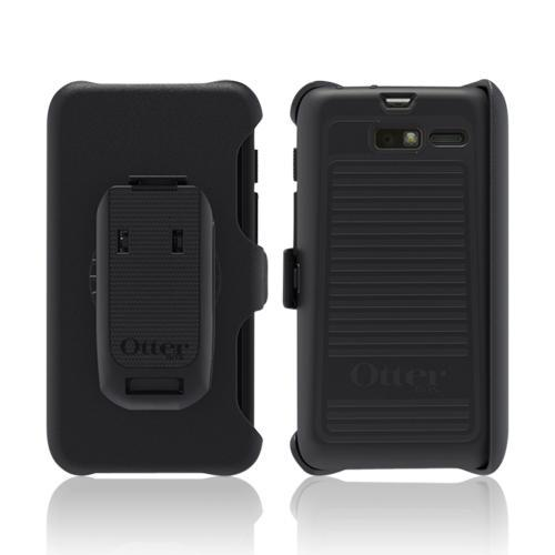 Otterbox Black Defender Series Silicone Over Hard Case w/ Holster & Screen Protector for Motorola Droid RAZR M