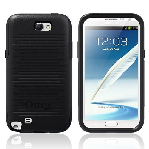 Otterbox Black Commuter Series Hard Case over Silicone w/ Screen Protector for Samsung Galaxy Note 2