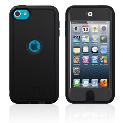 Black Coal Otterbox Defender Series TPU Over Hard Case w/ Lanyard & Built-In Screen Protector for Apple iPod Touch 5 - 77-25108