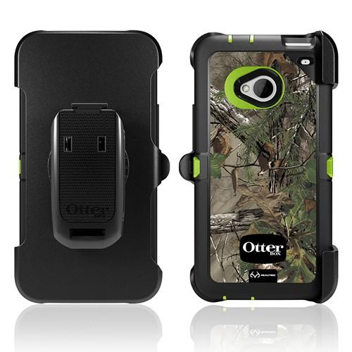 Otterbox RealTree (XTRA Green) Defender Series TPU Over Hard Case w/ Holster & Built-In Screen Protector for HTC One