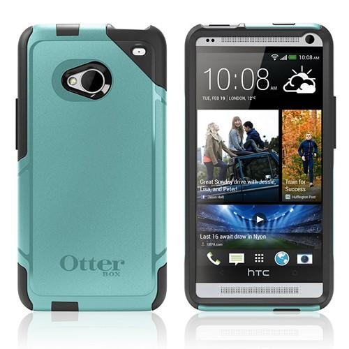 Otterbox Steel Blue (Turquoise/Black) Commuter Series Hard Case over Silicone w/ Screen Protector for HTC One