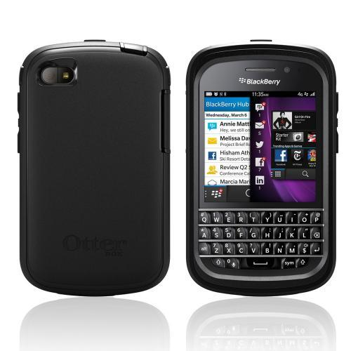 Otterbox Black Defender Series TPU Over Hard Case w/ Holster & Built-In Screen Protector for Blackberry Q10 - 77-27907