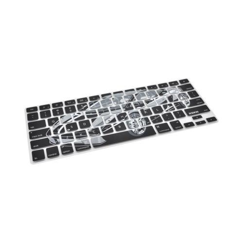 OEM XSKN Universal Apple MacBook Silicone Keyboard Cover - Black/ Gray Cool Ride