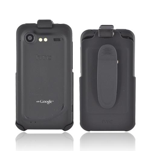 Original HTC Droid Incredible 2 Rubberized Holster w/ Swivel Belt Clip, 70H00387-01M - Black