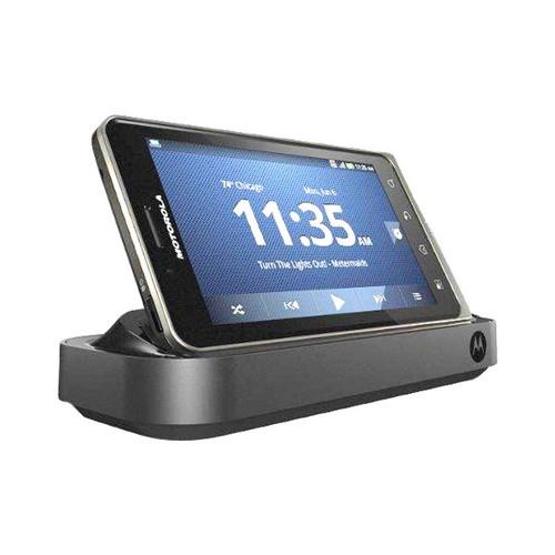 OEM Motorola Droid Bionic HD Multimedia Station Dock w/ 3.5mm Audio Jack & Rapid Wall Charger - Black