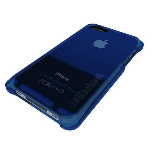 Blue CellHelmet Super Tough Crystal Silicone Case w/ Accidental Damage Coverage for Apple iPhone 4/4S - CH 4S-BLUE