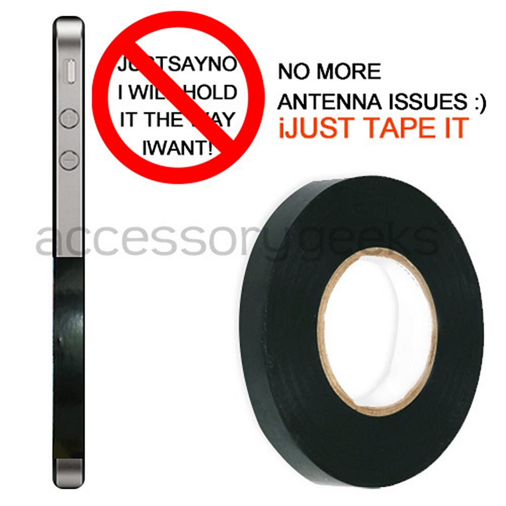 "Apple iPhone 4 ""Fix the Reception"" Antenna Vinyl Tape - Black"