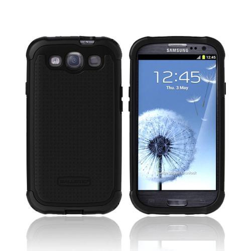 OEM Ballistic Samsung Galaxy S3 Hard Case on Silicone, SG0930-M005 - Black