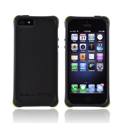 OEM Ballistic Apple iPhone 5/5S Lifestyle Smooth Gel Skin Case w/ Interchangeable Corner Bumpers  LS0955-M355 - Black