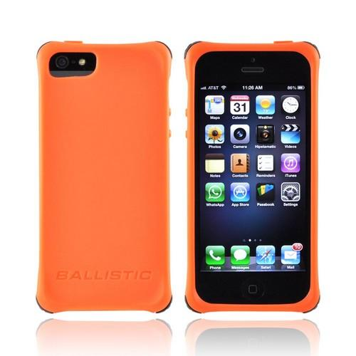 OEM Ballistic Apple iPhone 5/5S Lifestyle Smooth Gel Skin Case w/ Interchangeable Corner Bumpers  LS0955-M435 - Orange