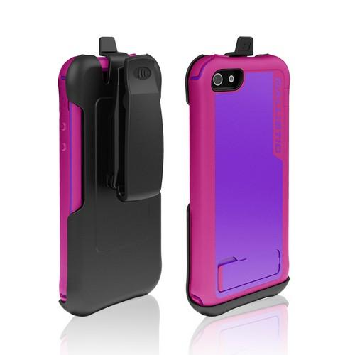 Ballistic Purple/ Hot Pink Every1 Series Hybrid Case w/ Holster & Built-In Screen Protector for Apple iPhone 5