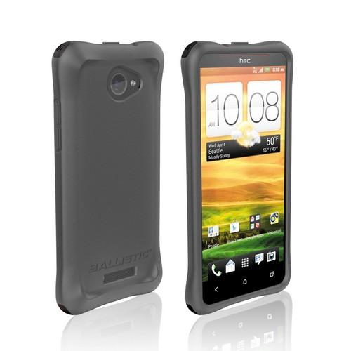 Ballistic Charcoal Lifestyle Smooth Series Silicone Case w/ Interchangable Corner Bumpers for HTC Droid DNA