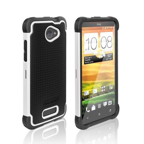 Ballistic Black/ White Shell Gel (SG) Series Hard Case on Silicone for HTC Droid DNA