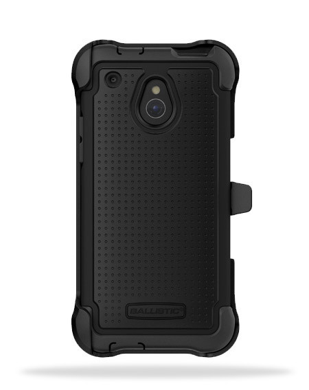 Ballistic Black SG MAXX Series Hybrid Case w/ Holster & Built-In Screen Protector for HTC One Mini - SX1183-A065