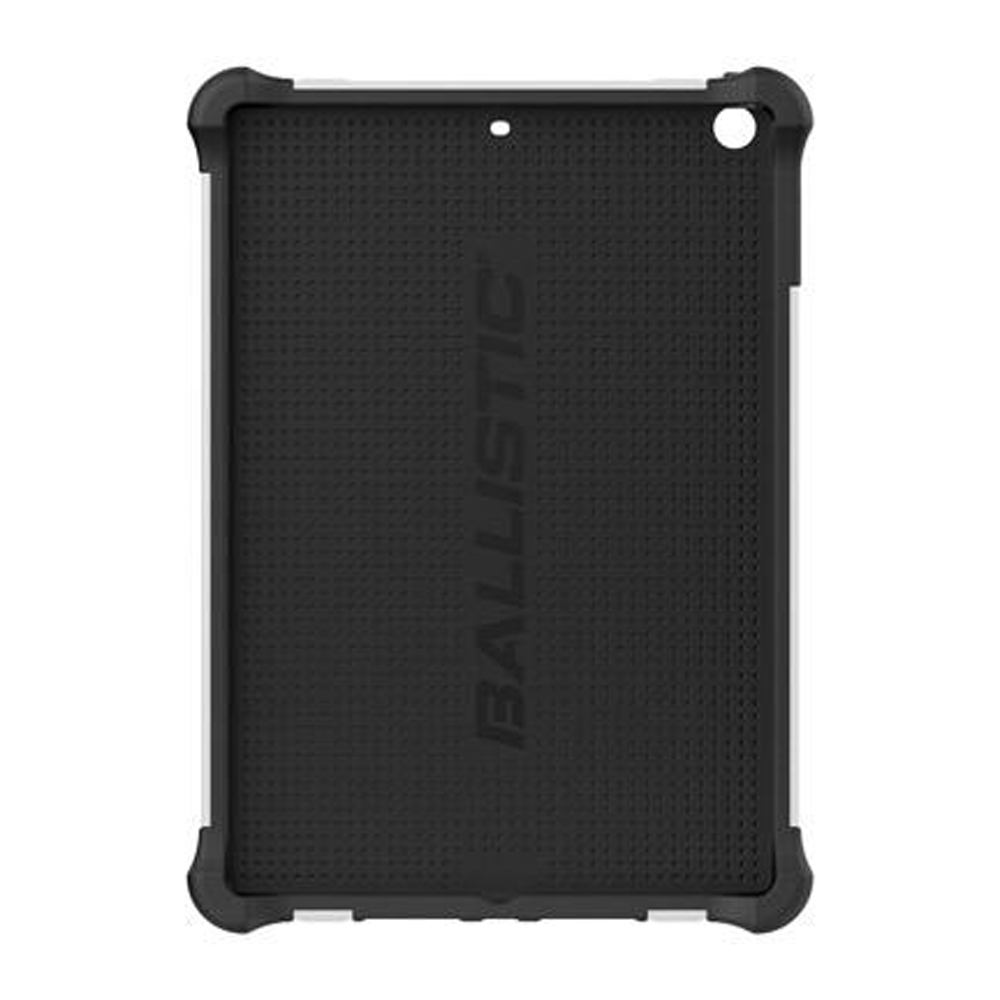 Ballistic Black/ White Tough Jacket (TJ) Series Hard Case on Silicone Skin Case w/ Cover & Kickstand for Apple iPad Air - TJ1113-A085