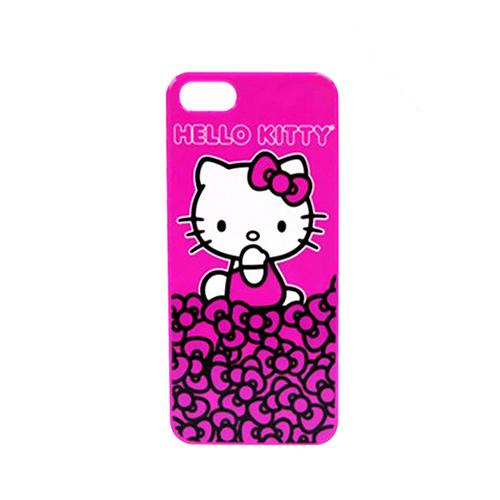 Officially Licensed Sanrio Hello Kitty on Mountain of Bows Hot Pink Hard Case for Apple iPhone 5/5S - KT4489PPB