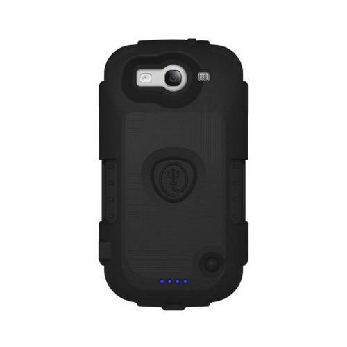 Black Original Trident Electra Series Hard Case on Silicone w/ Belt Clip & Extended Battery for Samsung Galaxy S3 (2000 mAh) - EL-SAM-S3-BK