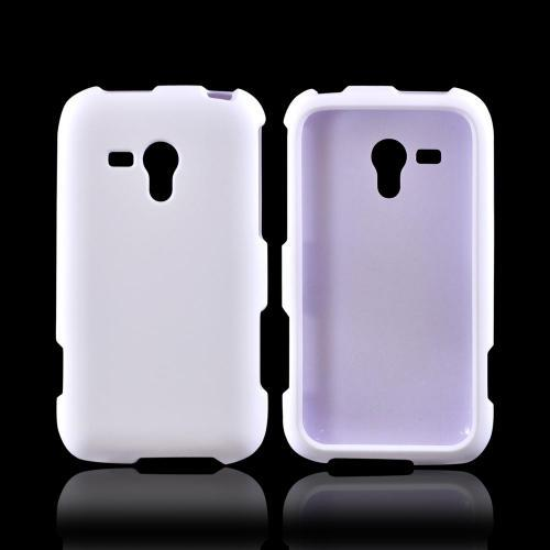 OEM MultiPro Samsung Galaxy Rush Rubberized Hard Case - White